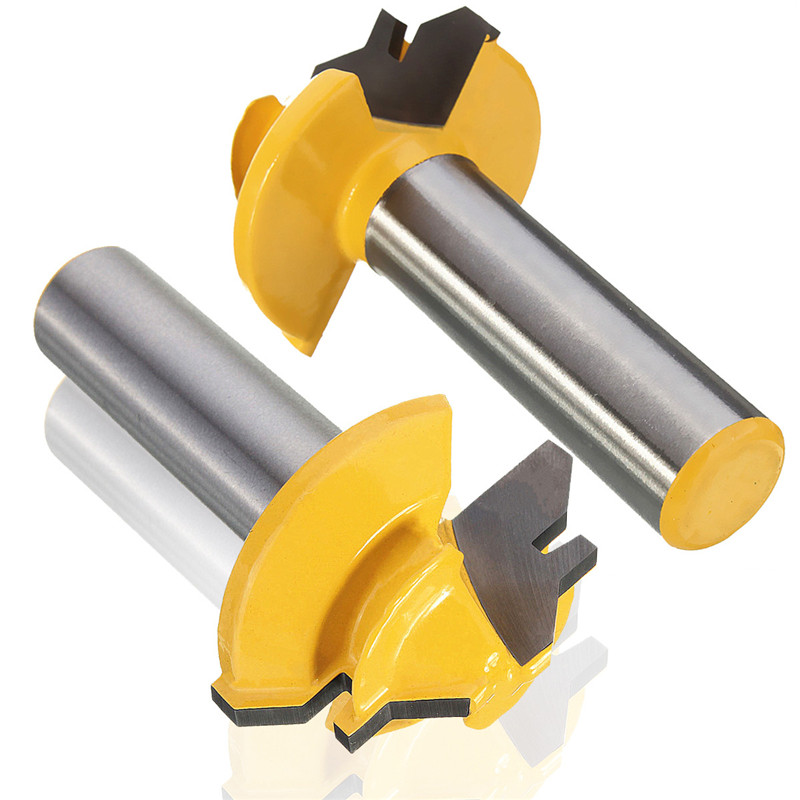 lock miter router bit. new 1pc small lock miter router bit anti kickback 45 degree 1/2 inch stock shank tenon cutter for woodworking tools-in milling from home