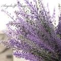 Decoración de flores de lavanda Provence romántico decorativo de flores artificiales de seda de Simulación de plantas acuáticas