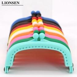 LIONSEN 8.5cm Arc Plastic Purse Frame Handle for Clutch Bag Handbag Accessories Making Kiss Clasp Lock 10 colors