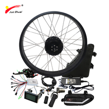 Free Shipping 1000W Electric Bike Conversion Kit with 48V 20ah Triangle Lithium Battery 4.0 Electric Snow Bike Kit 1000W 48V цена 2017