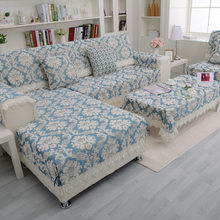 Luxury Royal Style Jacquard Sofa Covers Chenille Four Seasons Sofa Couch Cover Decorative Lace Sofa Slipcovers For Living Room(China)