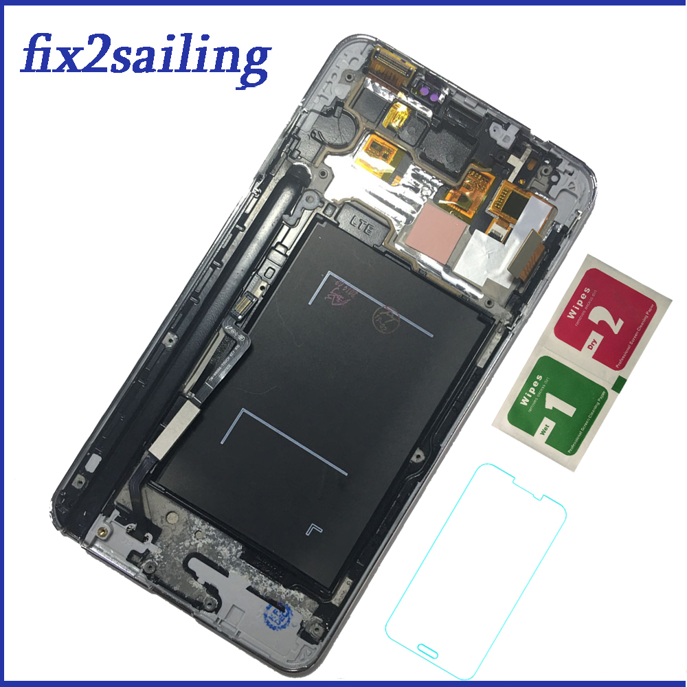 LCDs For Samsung Galaxy Note 3 N9005 Note3 LCD Display Frame Touch Screen Digitizer Assembly Replacement Brightness Adjustment LCDs For Samsung Galaxy Note 3 N9005 Note3 LCD Display Frame Touch Screen Digitizer Assembly Replacement Brightness Adjustment