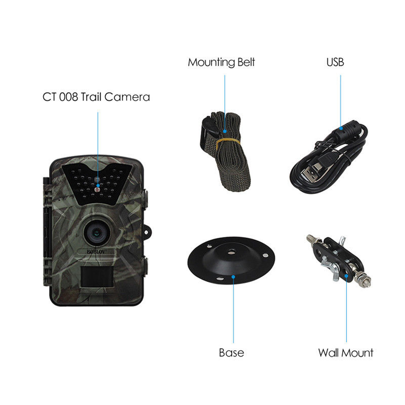 "Image 5 - Boblov CT008 Trail Game Scounting Hunting Wildlife Camera 2.4"" LCD Night Vision Digital Surveillance Photo Trap 24pcs LEDs Cam-in Hunting Cameras from Sports & Entertainment"