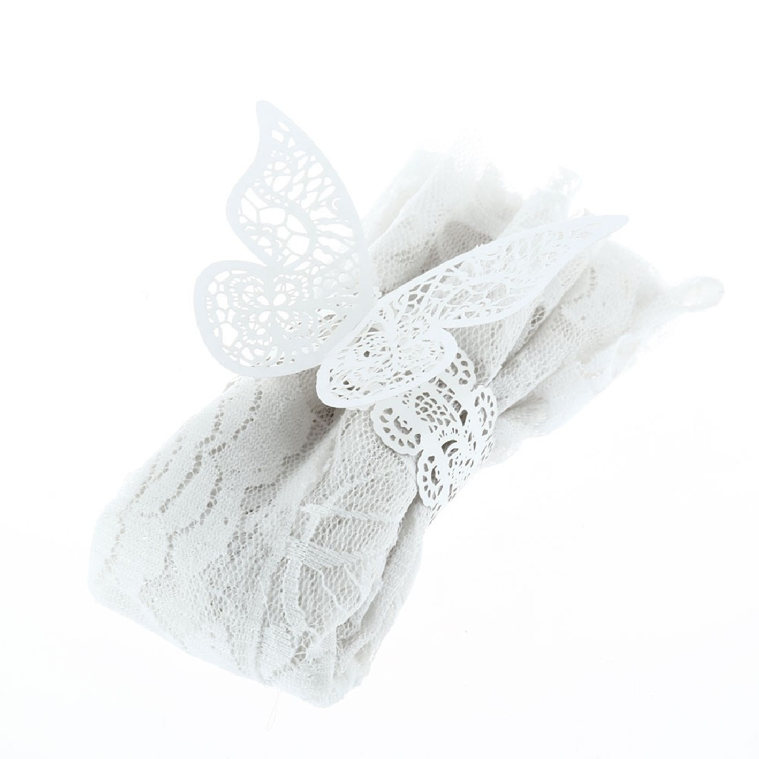 12 pcs lot pearlescent paper butterfly napkin ring wedding party serviette table decoration. Black Bedroom Furniture Sets. Home Design Ideas