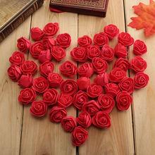 50 шт./пакет DIY Свадебные украшения дома мульти-использовать искусственные цветы глава 10 Цвета 3 см пенополиэтилен Роза ручной работы