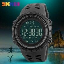 SKMEI Homens Relógio Bluetooth Inteligente Sports Pedômetro Calorias Relógios Chamada Lembrou Moda 50 M À Prova D' Água Digital Relógios De Pulso 1250