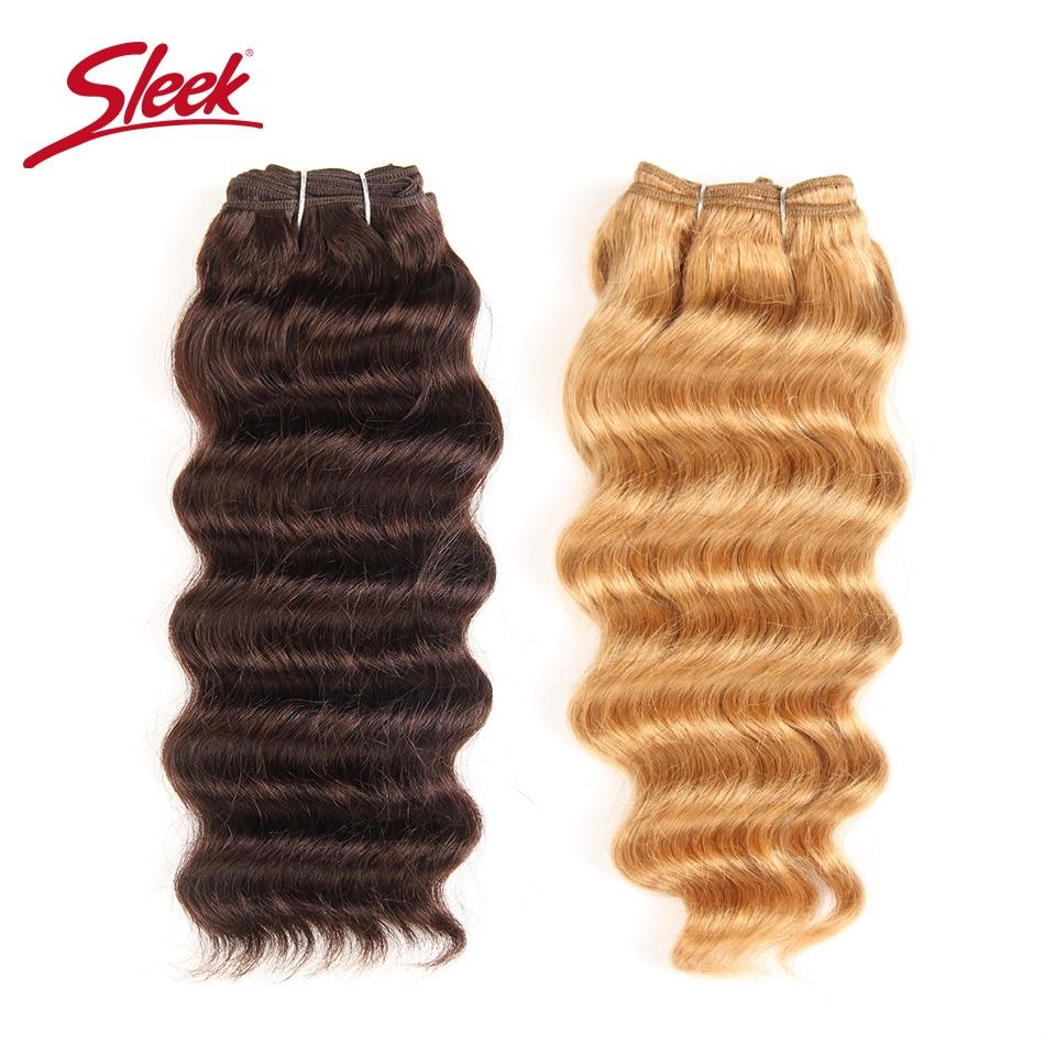 Sleek Nature Hi Deep Hair 1 Piece Only Brazilian Deep Wave Human Hair Weave Bundles Deal #27 99J Burgundy Remy Hair Extension