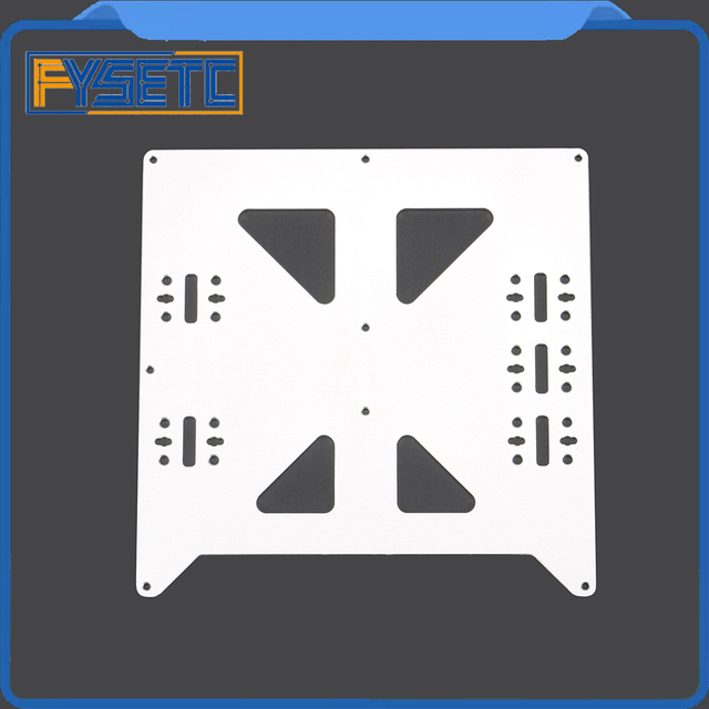 Aluminum Y Carriage Anodized Plate Upgrade V2 Prusa i3 V2 Hot Bed Support Plate For Prusa i3 DIY 3D Printer parts