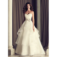 Robe De Soiree 2019 White/Ivory Sweetheart Tiered Sashas Organza Bride Dresses Off The Shoulder Wedding Dresses