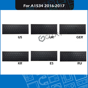 "New Laptop Replacement Keyboard US UK Russian Spanish German Korean For Macbook Retina 12"" A1534 keyboard Early 2016 Mid 2017(China)"