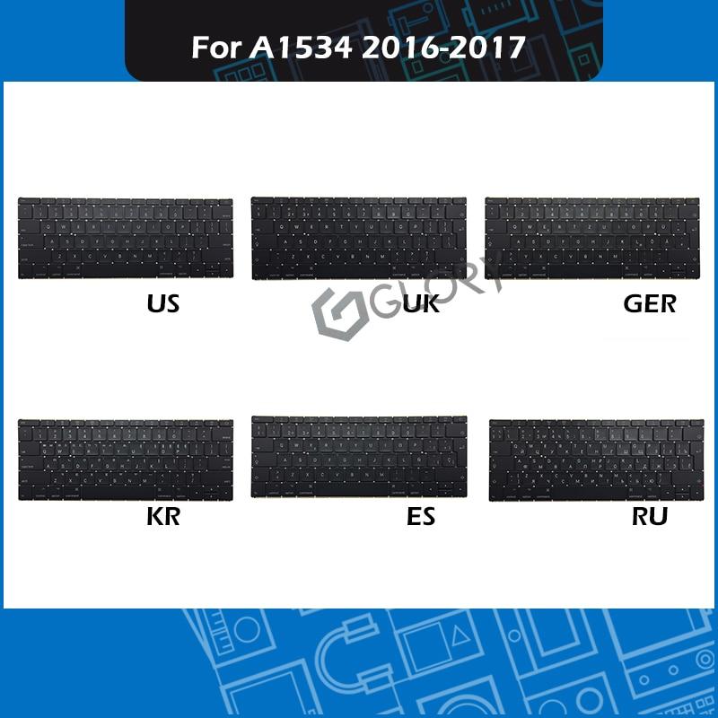 New Laptop Replacement Keyboard US UK Russian Spanish German Korean For font b Macbook b font
