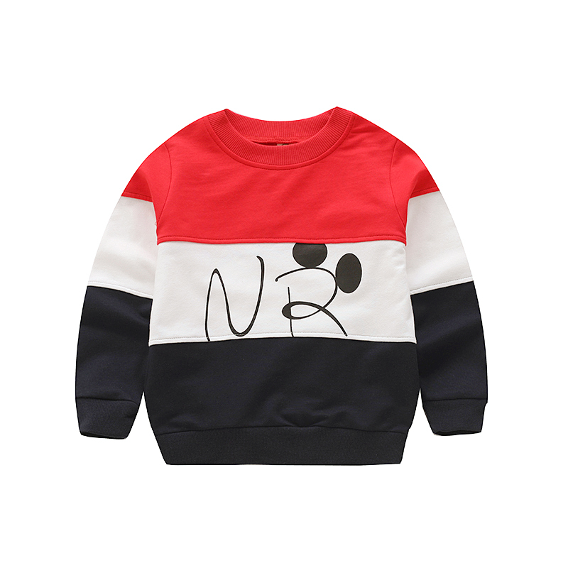 V-TREE Baby Boys Sweatshirt Cotton T Shirt For Boy 2 Colors Spring Autumn Tops For Kids Tees Shirt Children Outwear 2-8 Years