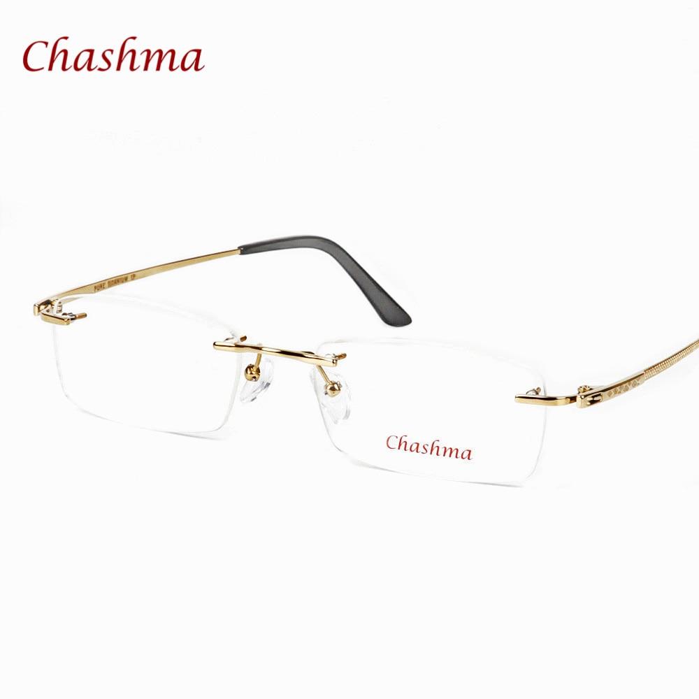 Chashma Marka Optik Gözlük Erkekler Çerçevesiz Gözlük Saf - Elbise aksesuarları - Fotoğraf 4