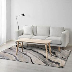 Современные абстрактные Полосатые Серые ковровые ковры для гостиной, Нескользящие мягкие детские коврики для спальни, коврики для дома бол...