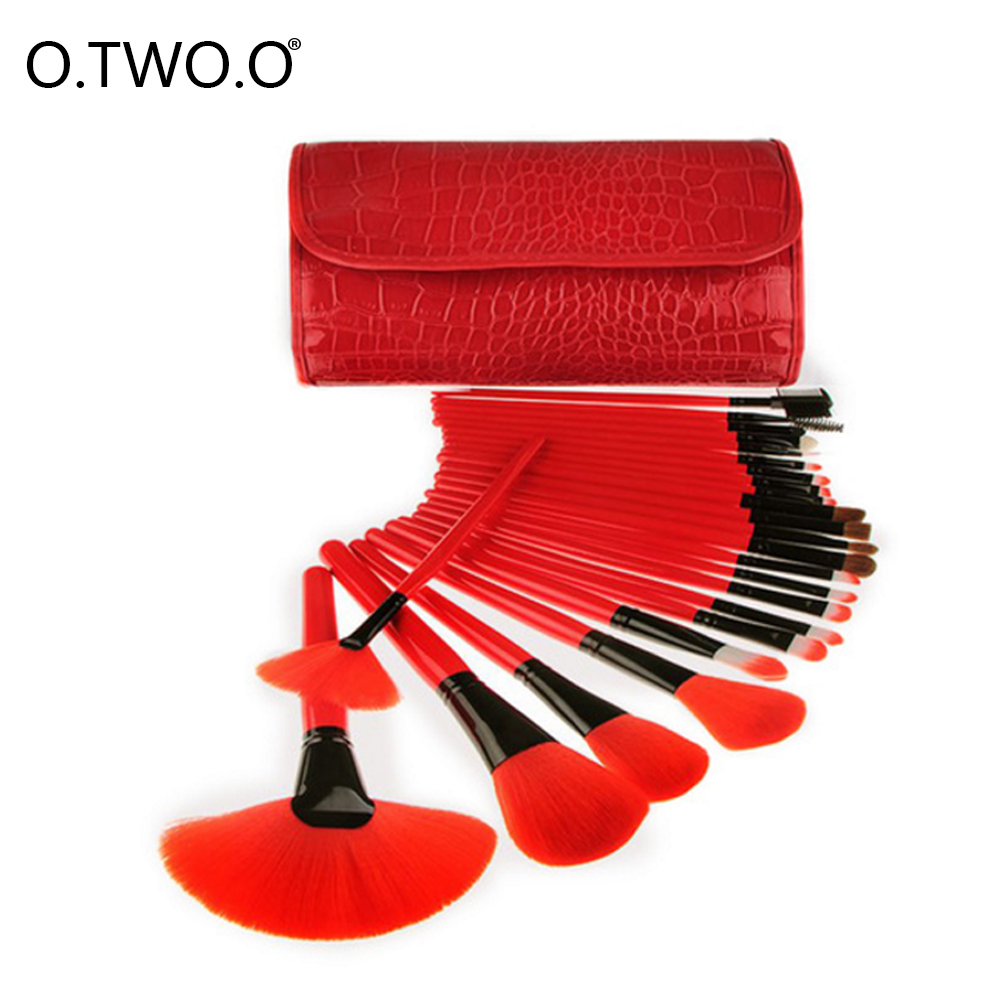 O.TWO.O Makeup Brush Set Foundation Blending Powder Brush Eyeshadow Contour Concealer Blush Cosmetic Beauty Make Up Kits Hot New new design stamp seal shape face makeup brush foundation powder blush contour brush cosmetic facial brush cosmetic makeup tool