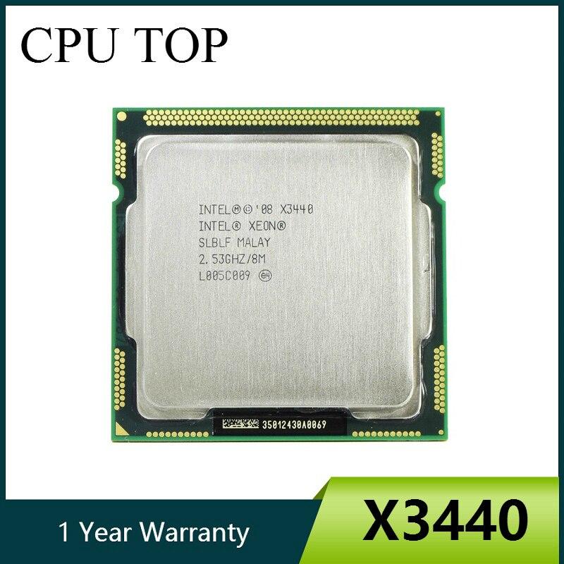 Процессор Intel Xeon X3440 для настольного компьютера, четыре ядра, 2,53 ГГц, LGA 1156, 8 Мб кэш-памяти, 95 Вт, I5 650 i5 750 i5 760