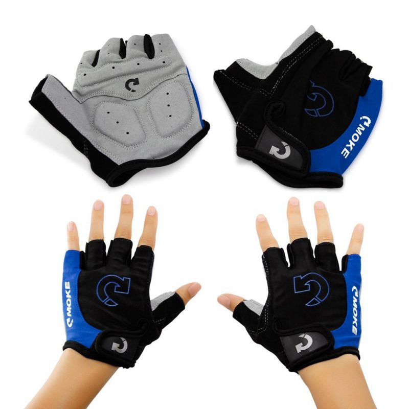 Cycling Gloves 3 Colors Cycling Gloves Men Sports Half Finger Anti Slip Gel Pad Motorcycle Road Bike Gloves Plus Size XL outdoor cycling half finger protective fiber gloves yellow black grey pair xl size
