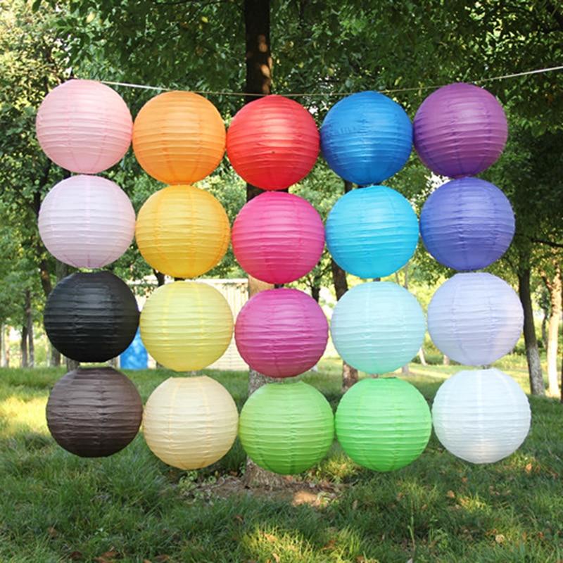 New 10pc 14inch round Chinese paper lantern birthday party decoration gift crafts DIY handmade New Year supplies