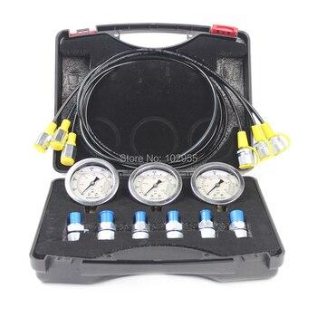 Excavator Hydraulic Pressure Gauge, Hydraulic Tester Kit Pressure Diagnostic Tool, 2 year warranty
