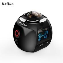 Karue V1 видео Камера мини Panorama VR Камера 2448*2448 Ultra HD 2.7 К Wi-Fi Водонепроницаемый спортивные Камера 30 м Дайвинг actoin Камера