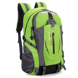40L impermeable Durable al aire libre escalada mochila mujeres y hombres senderismo deporte Atlético mochila de viaje mochila de alta calidad