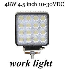 new arrival Off Road Truck Trailer Interior and Exterior Lighting 2pcs 48W work light lamp  Flood beam  10-30V DC fog lamp light