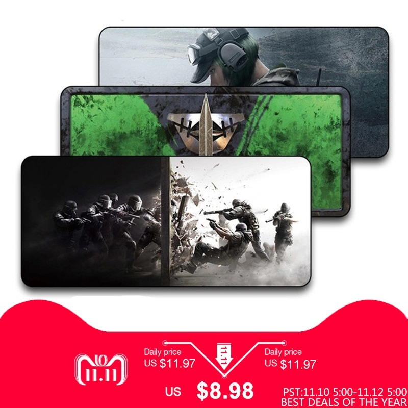 Rainbow six large non-slip professional esports game player mouse pad laptop home office computer PC table pad keyboard pad 1000pcs dupont jumper wire cable housing female pin contor terminal 2 54mm new