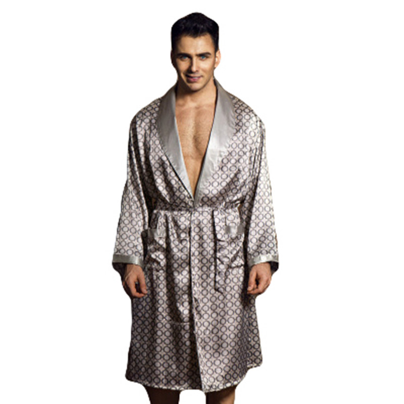 2017 summer pyjama homme robe sexy bathrobe men dressing gown silk robes for men. Black Bedroom Furniture Sets. Home Design Ideas