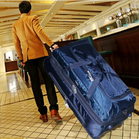Ultra light Trolley case,36 inch Large capacity Luggage,Oxford canvas suitcase,One way wheel zipper trunk,Large valise,Trip bag