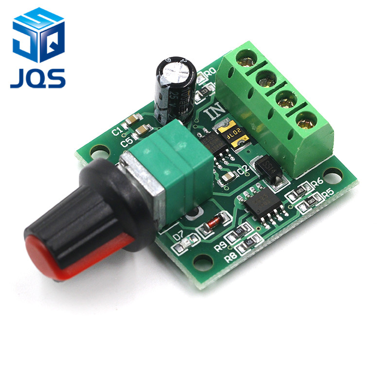 DC 1.8V 3V 5V 6V 12V 2A PWM Motor Speed Controller Low Voltage Motor Speed Controller PWM 0~100% Adjustable Drive Module