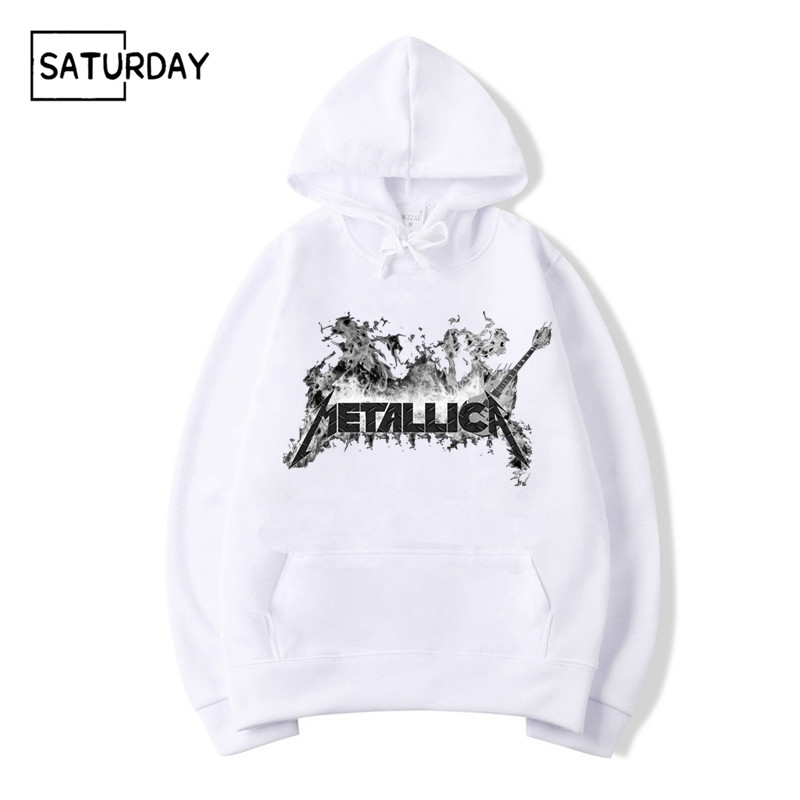 Men Rock Print Fleece Hoodies Sweatshirts Winter Unisex 2019 Music Sweatshirts Hoodies Women Hoody Clothes