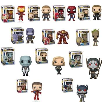 Funko Поп новое поступление Marvel оригинальные Мстители танос Железный человек фигурку Коллекционная модель игрушки для рождественские подарк...