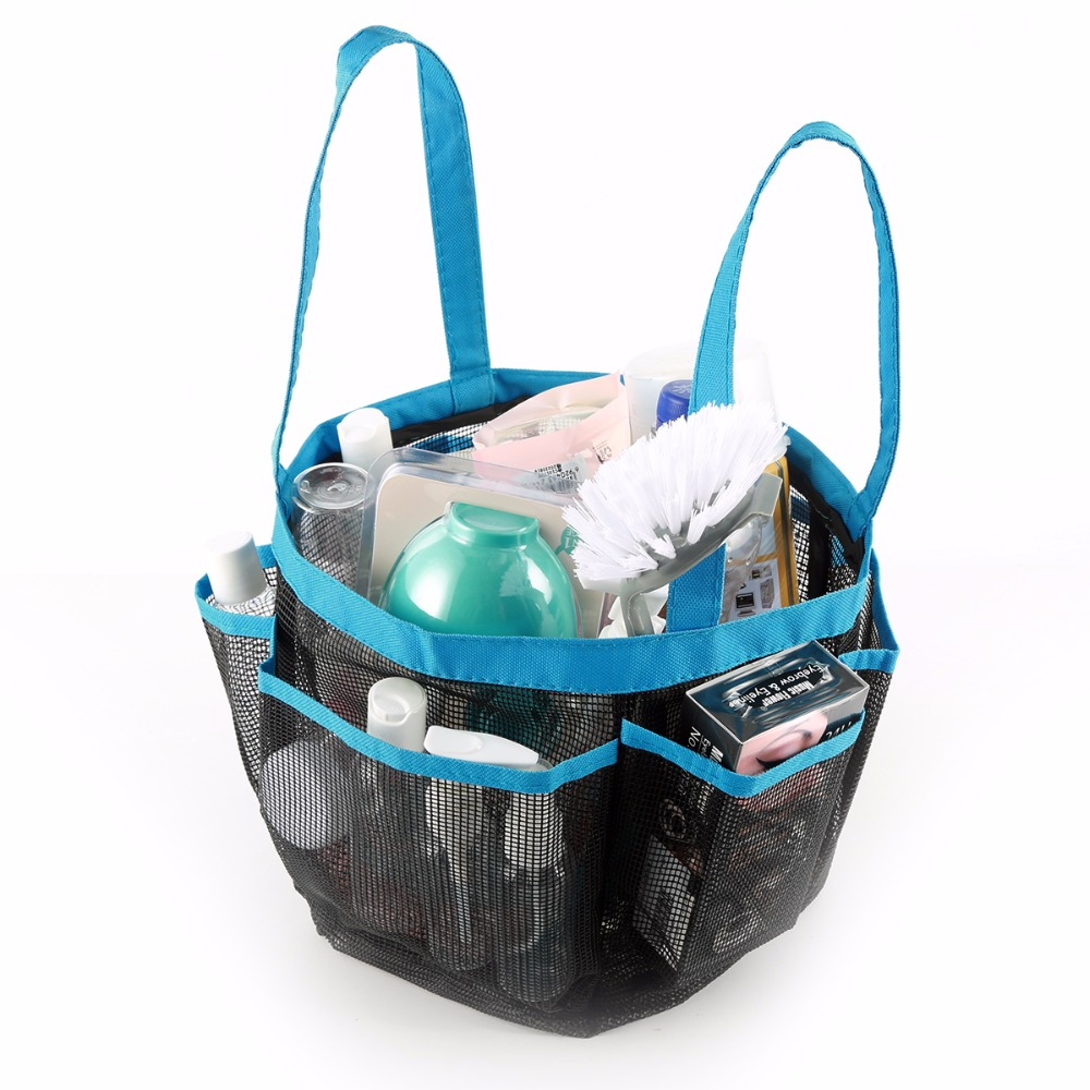 Portable Quick Dry Shower Caddy Hanging Bags Bathroom Toiletry ...