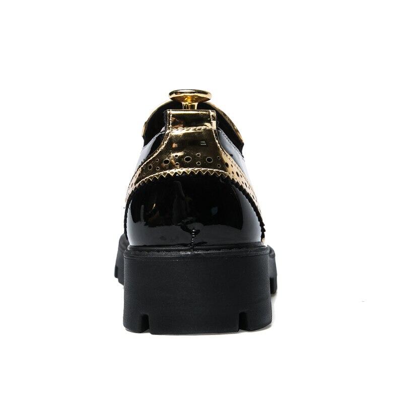 De Noir Mariage or 2018 Sur Glissent Oxford Pointu Formelles Qualité D'affaires Robe Chaussures Marque Les Hommes PwP1q6
