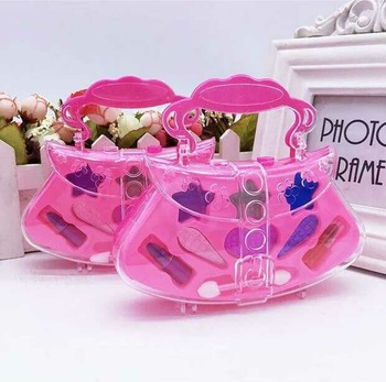 1pc Mode Prinzessin Kind Make-Up Set Mädchen Leistung Kosmetik Tasche Lidschatten Make-Up Spielzeug Pretend Spielen Kosmetik Sets