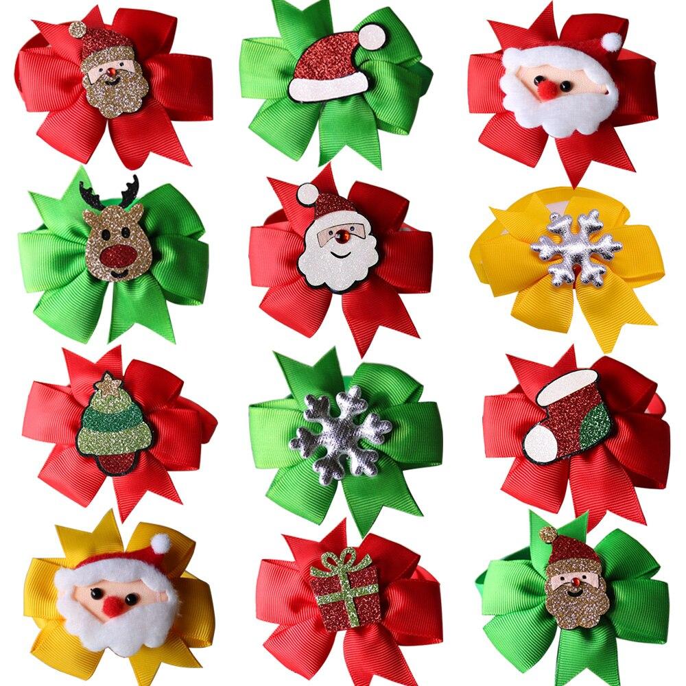 100pcs Christmas Supplies Pet Dog Bowties Collar Accessories Dog Wedding Bow Tie Neckties Cat Pet Holiday