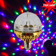 LED Car Atmosphere Light Disco Ball Party MINI Portable Strobe Lights for Kids Birthday Parties Stage DJ Lighting Xmas