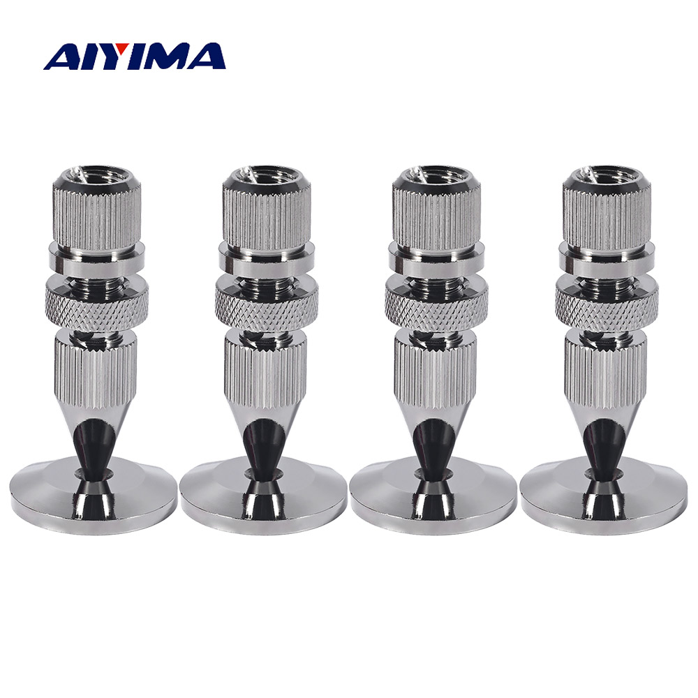 AIYIMA 4 Pair Mini Portable Audio Speaker Spikes M8x43 Speakers Repair Kits Stand Shock Pin DIY For Home Theater Sound SystemAIYIMA 4 Pair Mini Portable Audio Speaker Spikes M8x43 Speakers Repair Kits Stand Shock Pin DIY For Home Theater Sound System
