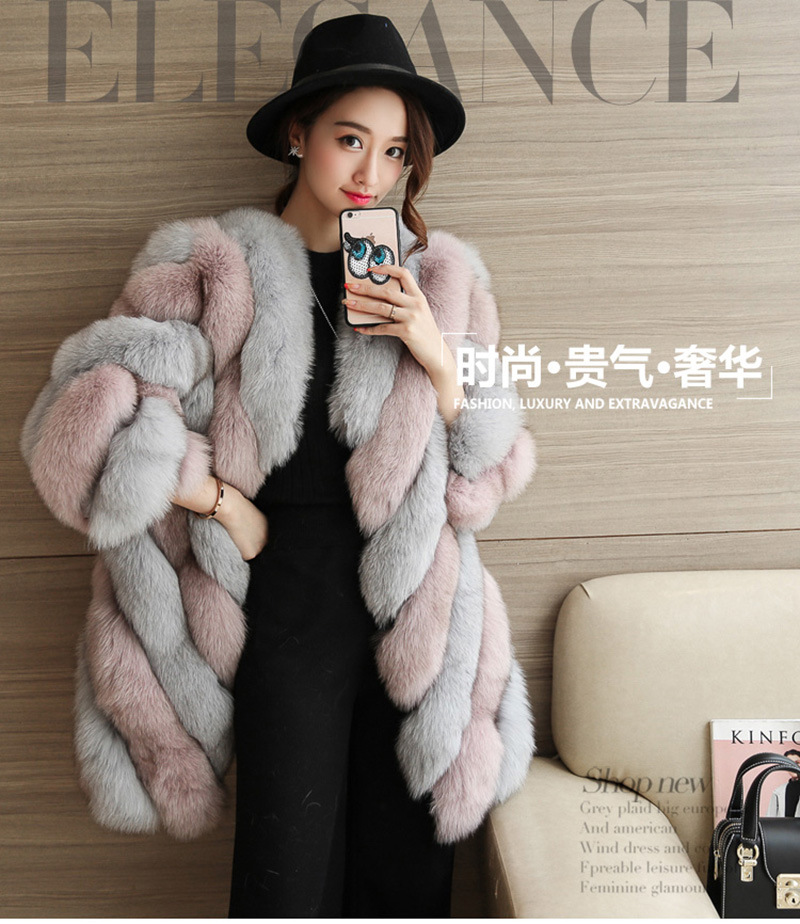 2017 winter long sleeves faux fur coats fashion design Korean style sweet office lady outwears gorgous jackets tf055