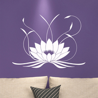 3d Mandala Lotus Wall Sticker PVC Removable Yoga Wall Decals Stickers For Bedroom Living Room Home Decoration Mural