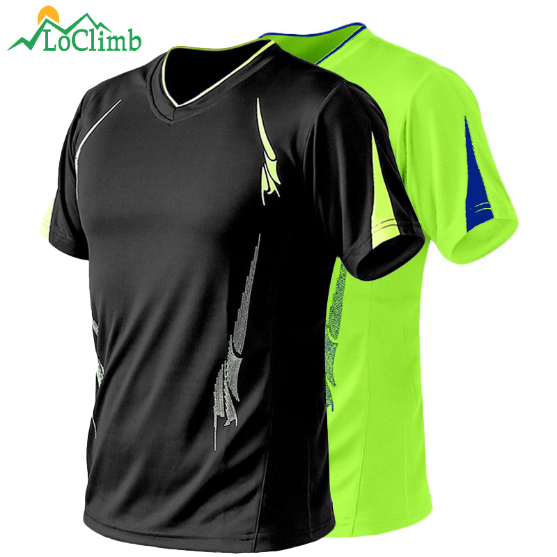 LoClimb Plus Size 9XL Men's Camping Hiking T-Shirt Men Summer Fitness Jersey Trekking Climbing Quick Dry Sport T Shirts AM260