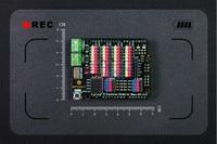 DFRobot Gravity - IO Expansion Shield for Bluno M3, D0~D38 Digital pins/5 UARTS/8 PWM/8 Analog pin/3.3V or 5V Servo Power Port