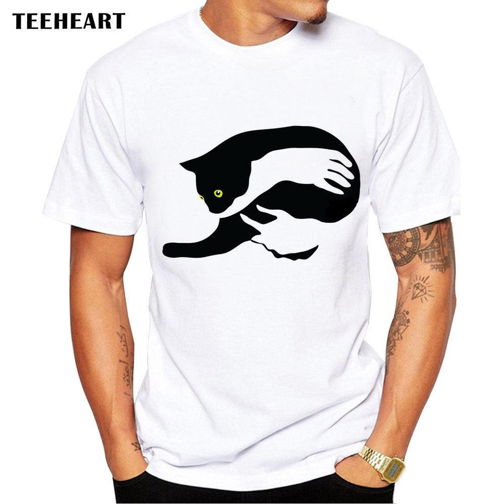 Cool Design My Hands Holding A Black Kitten Ball Funny Joke Men T Shirt Tee