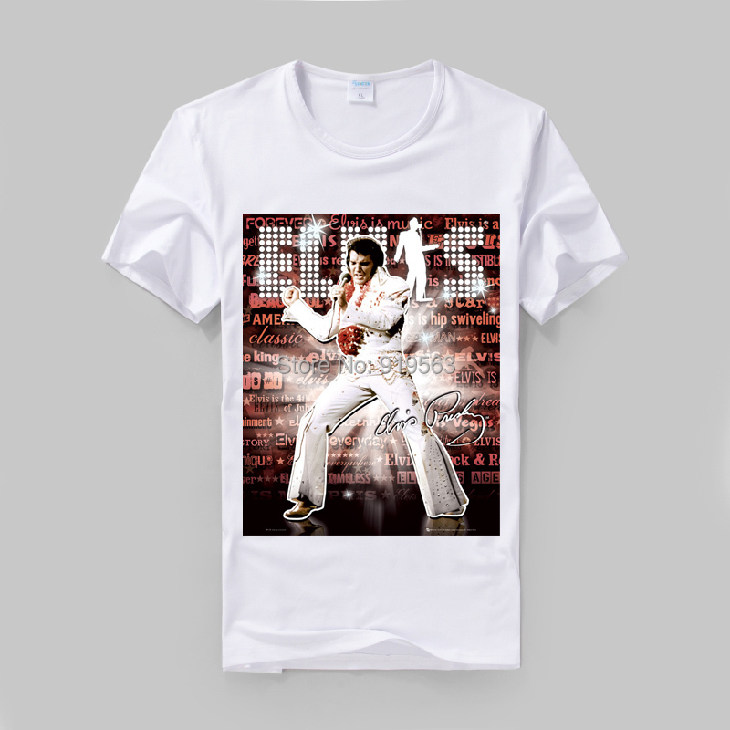 Elvis presley stage show printing vintage fashion t shirt for Good quality cotton t shirts
