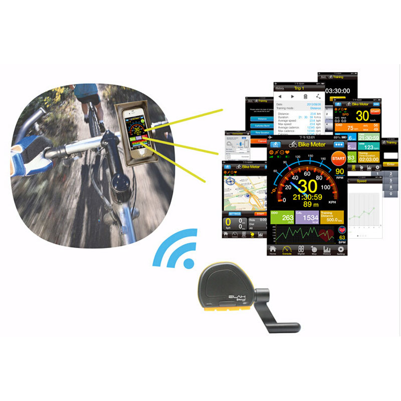elah gps bicycle speedometer wireless bluetooth bycicle compteur de vitesse speed cadence sensor. Black Bedroom Furniture Sets. Home Design Ideas