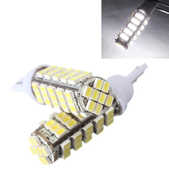 2 X T10 W5W bulb 68 SMD LED W5W white Xenon pilot DC 12V car lights dashboard indicator