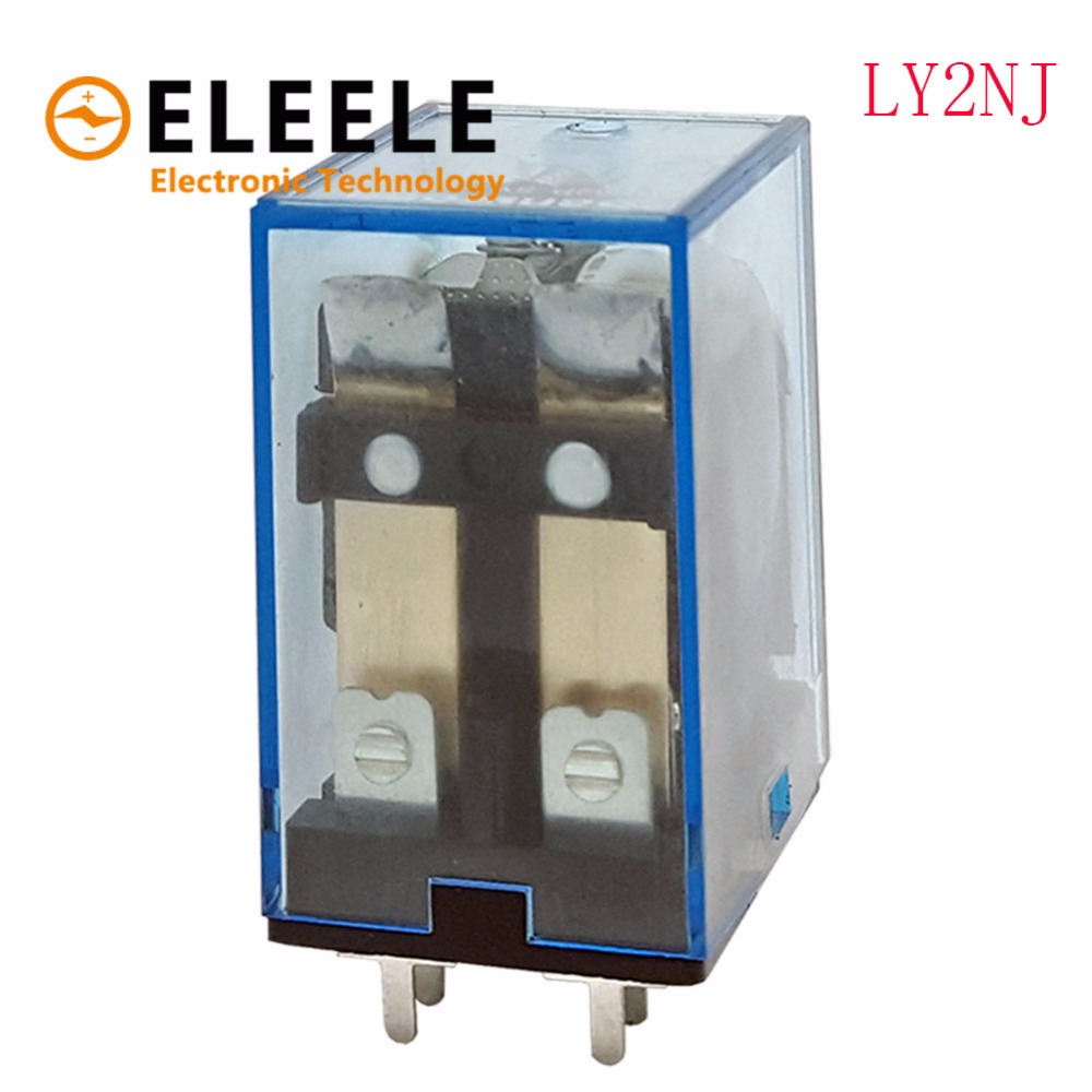 Free Shipping 1Pc LY2NJ HH62P HHC68A-2Z Electronic Micro Mini Electromagnetic Relay 10A 8PIN Coil DPDT DC12V,24V AC48V 220V PN35 dpdt 8pins 10a electromagnetic relay ac220v coil w 35mm din rail socket
