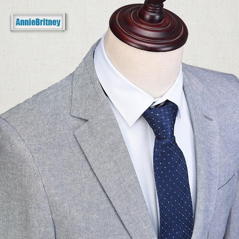 Latest Coat Pant Designs Grey Linen Suits Men Slim Fit Summer ...