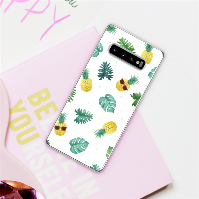 Eleteil Pineapple Plant Printed Case For Samsung S8 S9 S10 Plus S7 Edge Fruit Phone Cases For Samsung S10e S10 Cover Case E40 Cellphones & Telecommunications