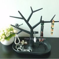 New Arrival Plastic Tree Shaped Branch Display Black Jewelry Stand Holder Earring Bracelet Necklace Ring Desktop